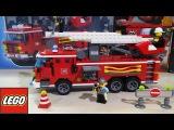 LEGO City Fire Truck - Box Opening, Build and Play. Пожарная машина. ЛЕГО. Мультфильм.