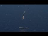 Посадка первой ступени Falcon 9 на платформу в океане