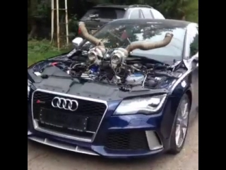 Бешеная Audi RS7 Sportback   Автомобиль,машина,тачка,спорткар,суперкар,V8