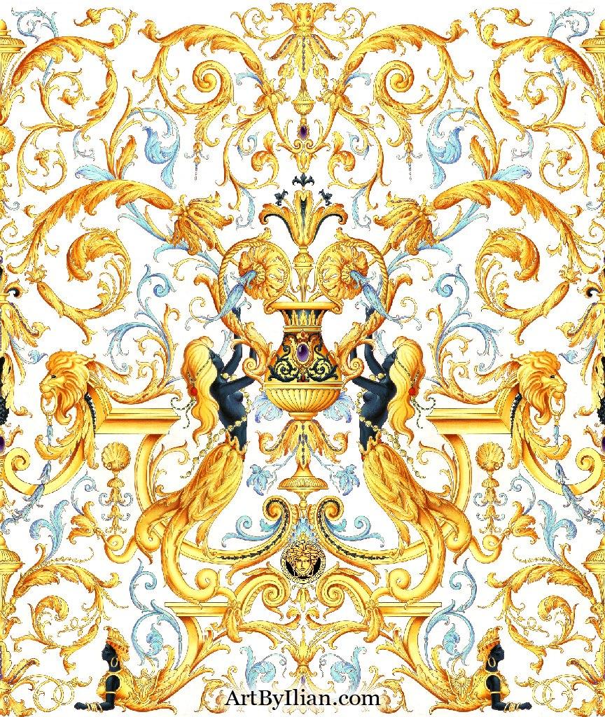 Орнаменты Versace - Орнамент и стиль в ДПИ Барокко Орнамент