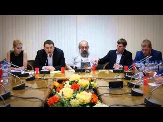 Е.А. Федоров на встрече координационного совета блоггеров