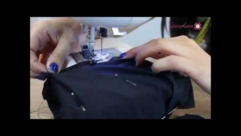 Как сшить очень просто чёрное платье ( How to sew a simple black dress)