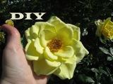 Мастер-класс: Раскрывшаяся роза из фоамирана