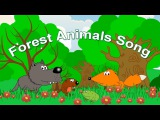 Forest Animals Song for Kids  Learning English from Early Childhood