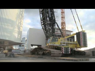 Liebherr - LR 1600/2 (assembly of a Mixing Tower)