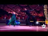 Шоу Танцы со звездами 2015. Ксения Алферова  и  Денис Тагинцев. Квикстеп.