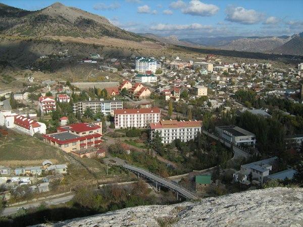 Побережье Судака. Вид на крепость