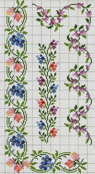Вышиваем цветочные орнаменты