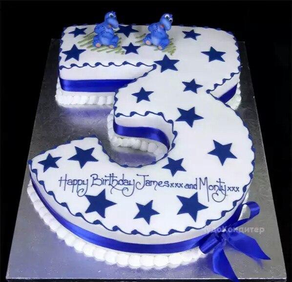 Как сделать торт в виде цифры
