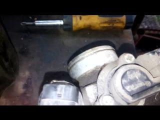 Daewoo Lanos (Деу Ланос) чистка дроссельной заслонки, дросселя