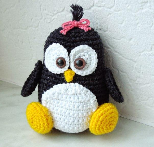 Пингвин. #амигуруми #описание