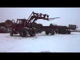 Самодельный трактор разгрузка сена