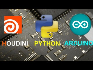 Houdini Python and Arduino - Light connect to real world light