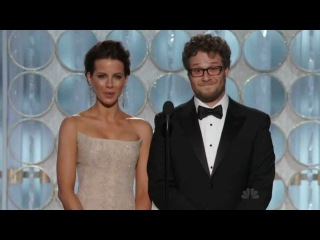 Golden Globe Awards 2012 - Seth Rogen, Kate Beckinsale - Massive Erection HD - http://film-book.com
