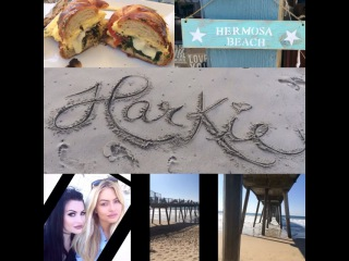 """Harper Leigh on Instagram: """"It was a Harkie L❤️VE fest at Hermosa Beach today! Brunch, shopping, and people taking pics of us taking pics of ourselves...lol haiiii.…"""""""