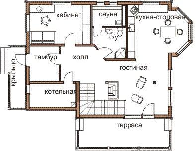 Интересная схема дома в Симс 3