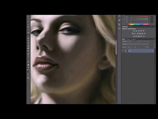 Scarlett Johansson - Speed Painting by Artem Filippovskih