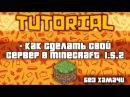 Туториал Как сделать свой сервер в minecraft 1.5.2 без хамачи Как стать на нем админом