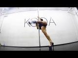 Olga Koda! exotic pole dance ! combo from one position !