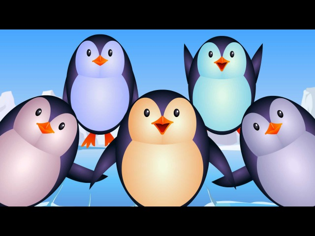 Five Little Penguins | Nursery Rhyme Cartoons For Toddlers | Videos For Children by Kids Tv