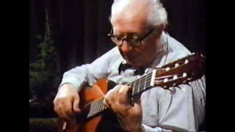 Andres Segovia: J.S.Bach-Saraband and Gavotte en Rondeau