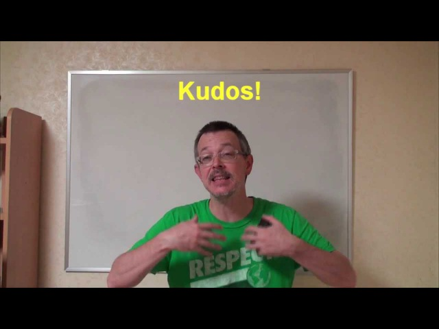 Learn English: Daily Easy English Expression 0342: Kudos!