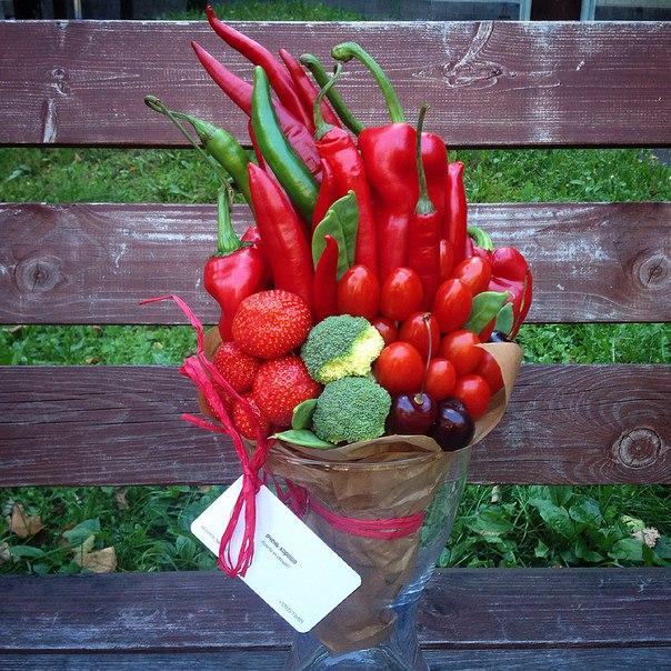 Букеты из овощей и цветов своими руками 855