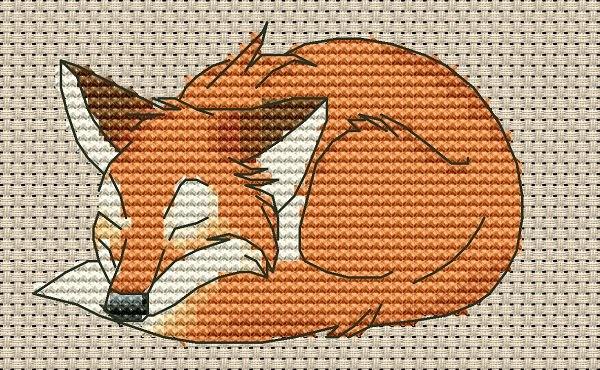 Спящий лис.