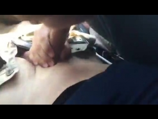 18 year old student swallowing a load in car
