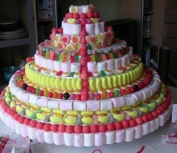 Торты с конфет своими руками