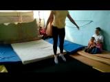 Тренировка на батуте-новое увлечение