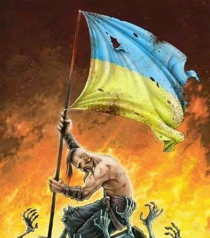 """Церемония прощания с двумя бойцами """"Правого сектора"""", погибшими при обстреле шахты """"Бутовка"""", проходит в центре Киева - Цензор.НЕТ 3081"""