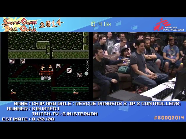 SGDQ 2014 Chip and Dale Rescue Rangers 2 Speed Run in 0 16 50 1p2c by Sinister1 SGDQ2014