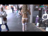 Walking naked sexy girl in gta alike role - Best Pranks 2015 ....