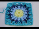 How to Crochet Granny Square with Round Center (Subtitulos en Espanol)