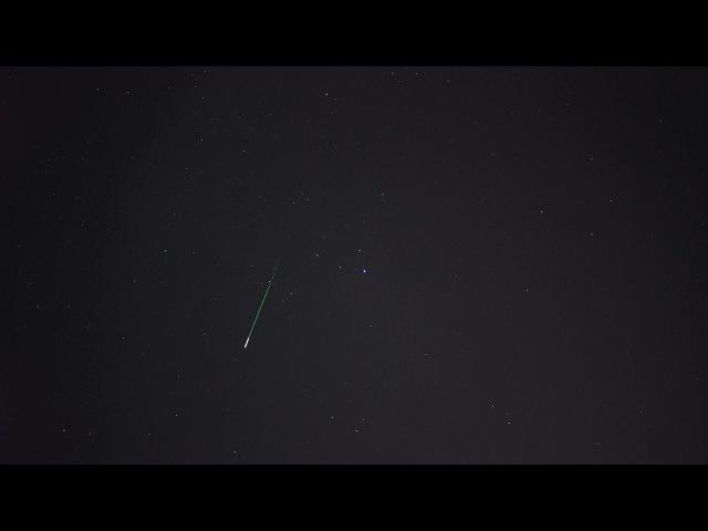 Метеор над Пензой (Персеиды 13.08.2015)