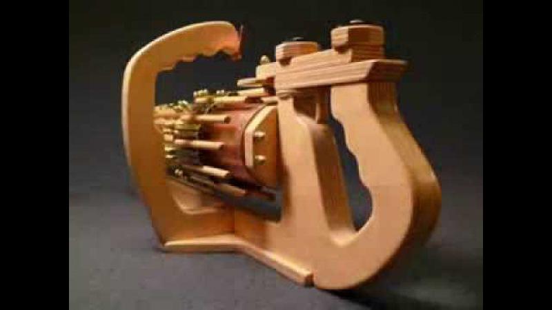 Как сделать из дерева автомат резинкострел