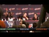 multi-angle Steven Ogg (Trevor) yells GO FCK YOURSELF to fan