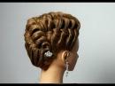 Hairstyle for long medium hair. Вечерняя прическа на средние и длинные волосы.