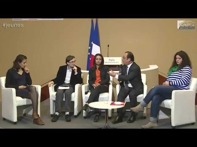 François Hollande a rencontré la jeunesse sur le thème