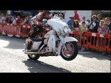 Безбашенные трюки на тяжелых мотоциклах
