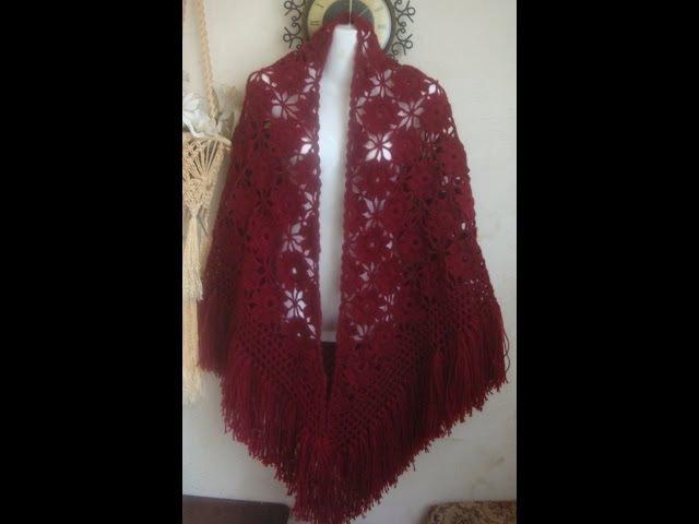 Очень простой и красивый мотив для шали.Beautiful motif for shawls