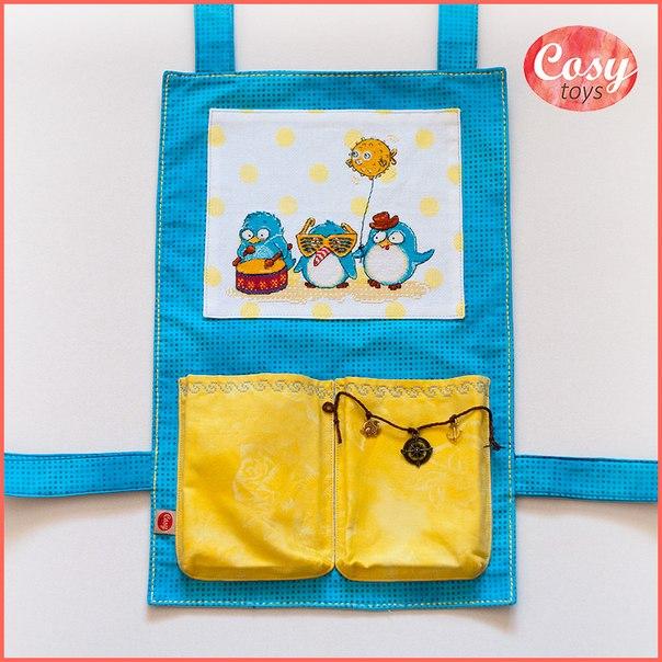 Оформление вышивки в виде кармана на детскую кроватку… (3 фото)