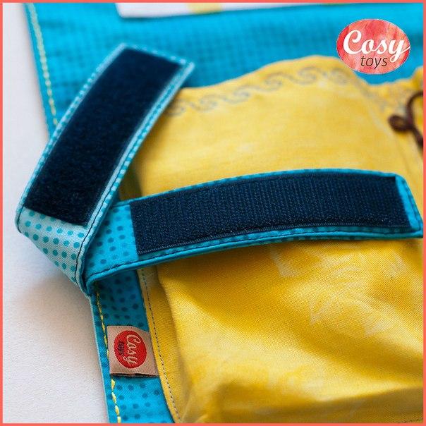 Оформление вышивки в виде кармана на детскую кроватку...