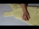 Шарф с рукавами, шарф кофта или шарф трансформер вяжем спицами (1)