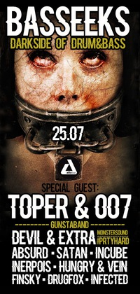 25.07 - BASSEEKS ft. TOPER & 007 @ ALFA BAR