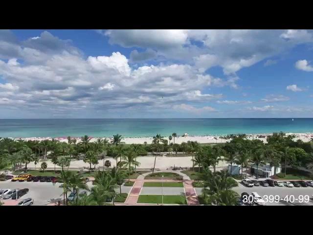 Aerovideo Miami Beach 4k / Ocean View / Fly in South Beach / Dji Phantom / Helicopter Flight