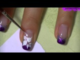 Простые рисунки на ногти
