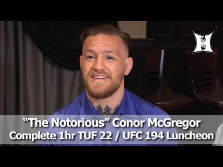 UFC Champ Conor McGregor's TUF 22 / UFC 194 Media Scrum: Complete + Unedited!