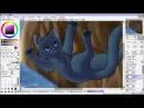 Ускореное рисование На тему Коты Воители Смерть Синей Звезды